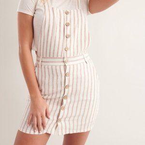 GARAGE | Linen Button-Up Overall Pinafore Dress